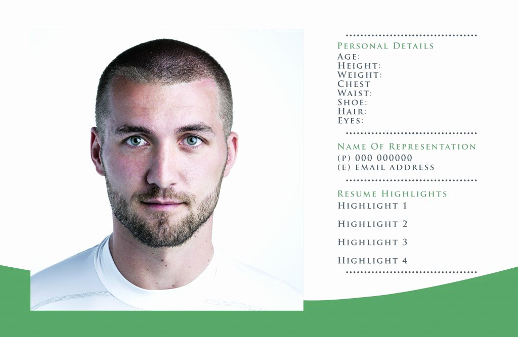 Free P Card Templates for Actor & Model Headshots