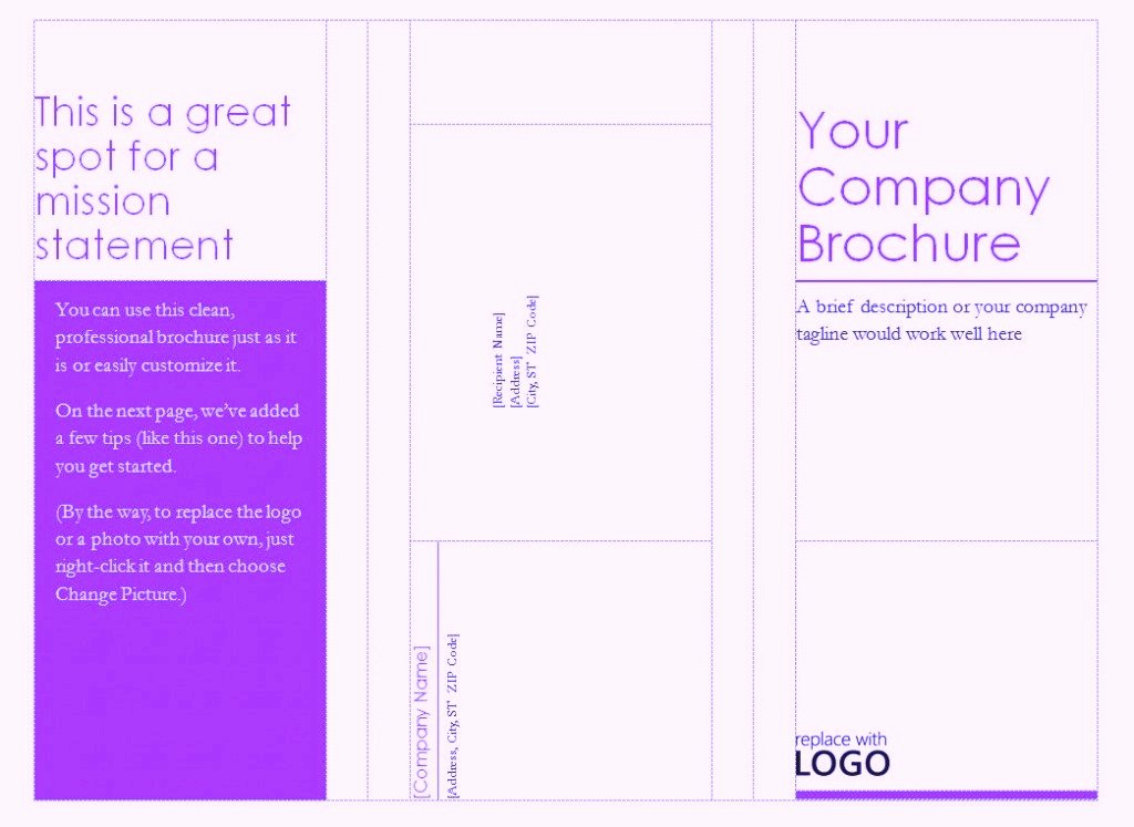 Free Pamphlet Template Word