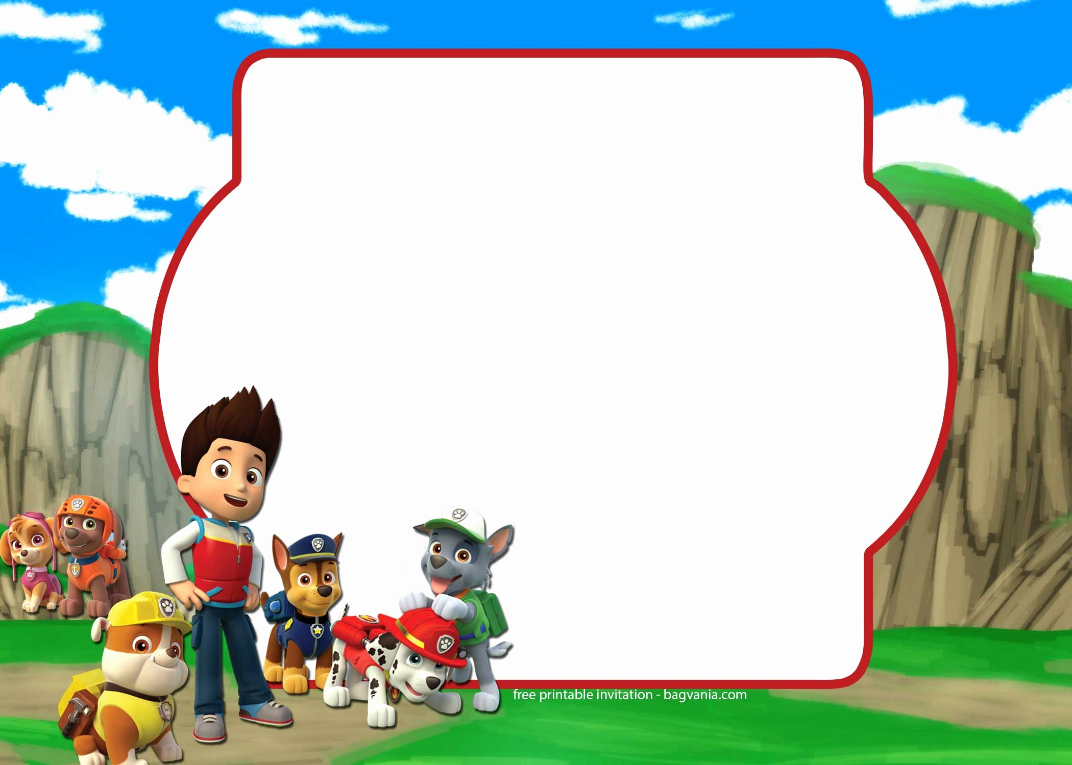 Free Paw Patrol Invitation Template – Plete Collection