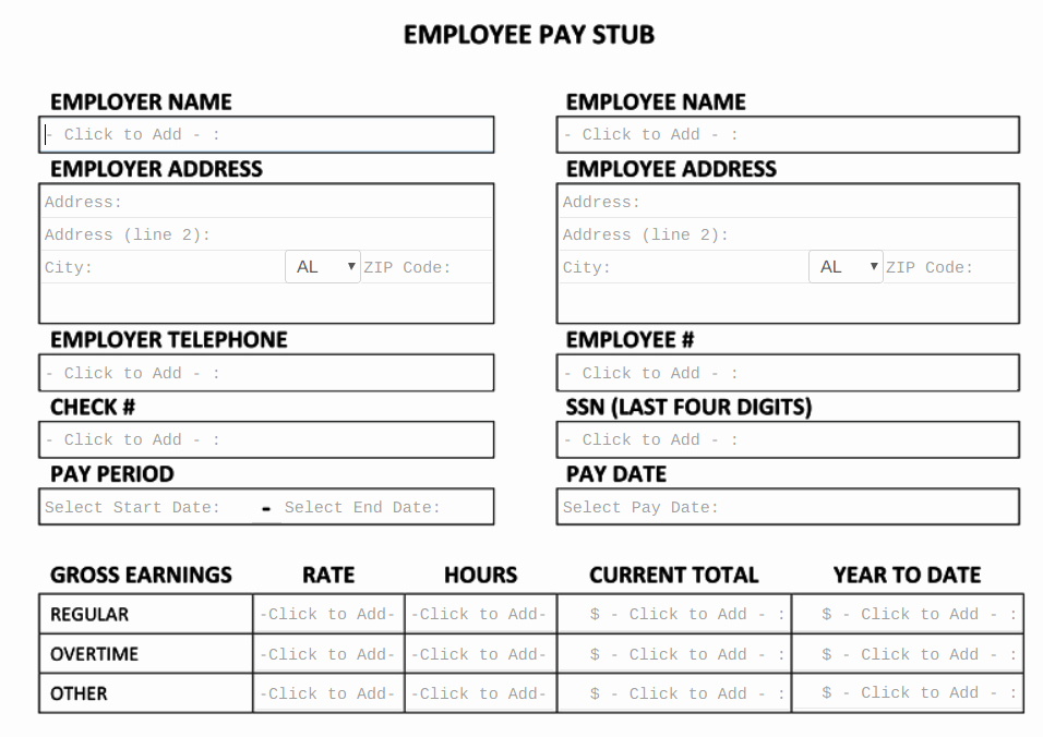 Free Pay Stub Template Tips & What to Include