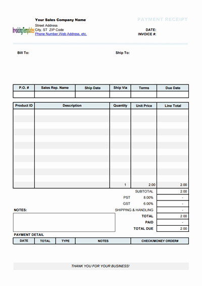 Free Payment Receipt Template Download Wondershare Pdfelement