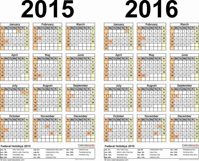Free Payroll Calendar 2016 Biweekly Template