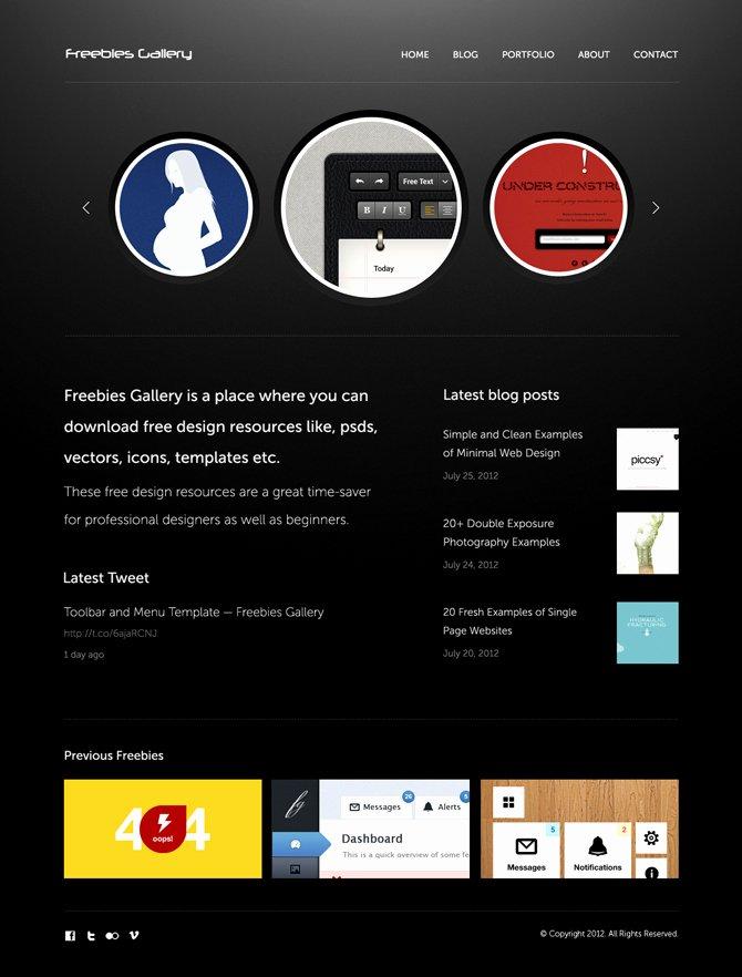 Free Personal Portfolio Website Template Freebies Gallery