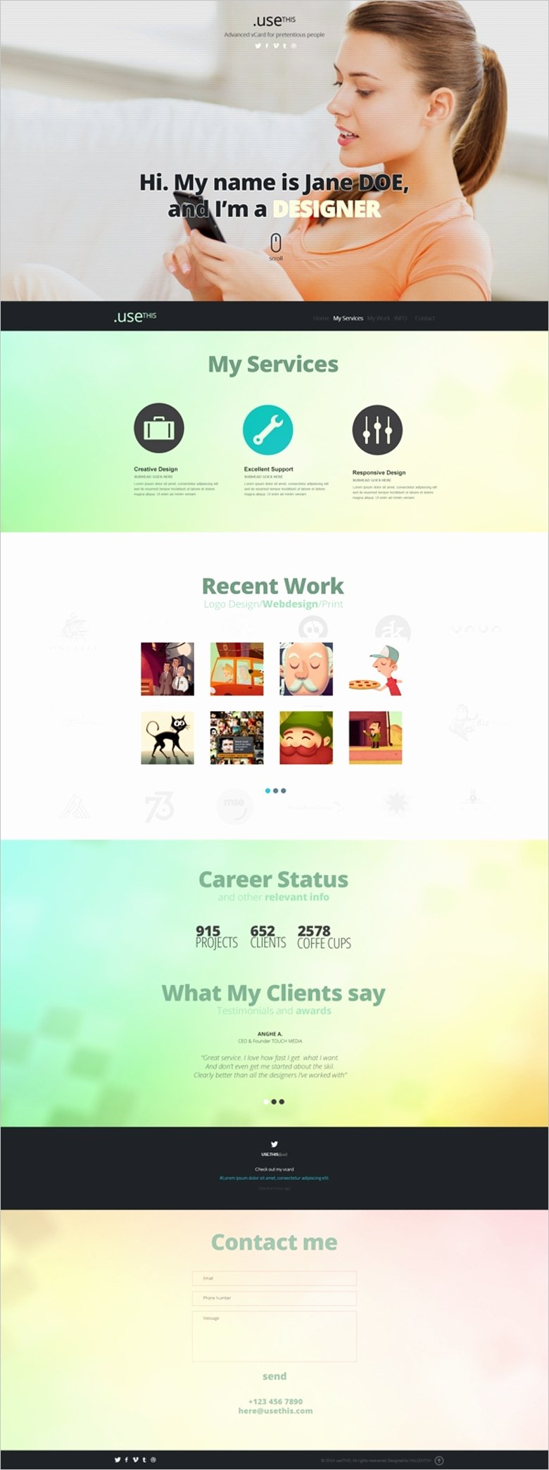 Free Personal Portfolio Website Template