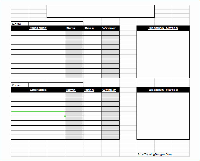Free Personal Training Excel Templates Personal Trainer