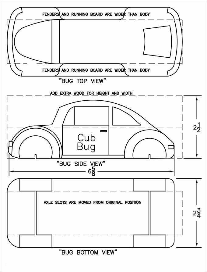 Free Pinewood Derby Template