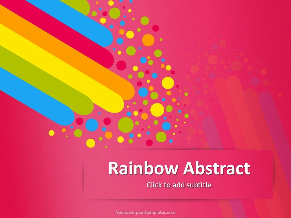 Free Pink Rainbow Abstract Powerpoint Template
