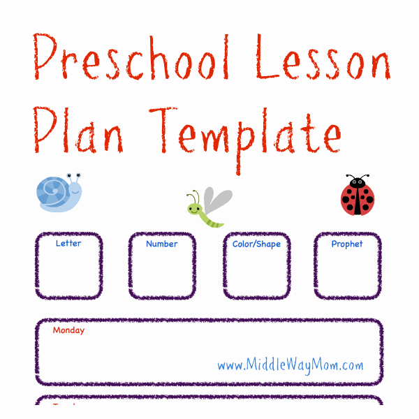 Free Preschool Lesson Plan Template Life Of A Homeschool Mom