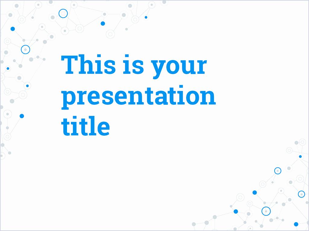 Free Presentation Template social Media Inspired Design