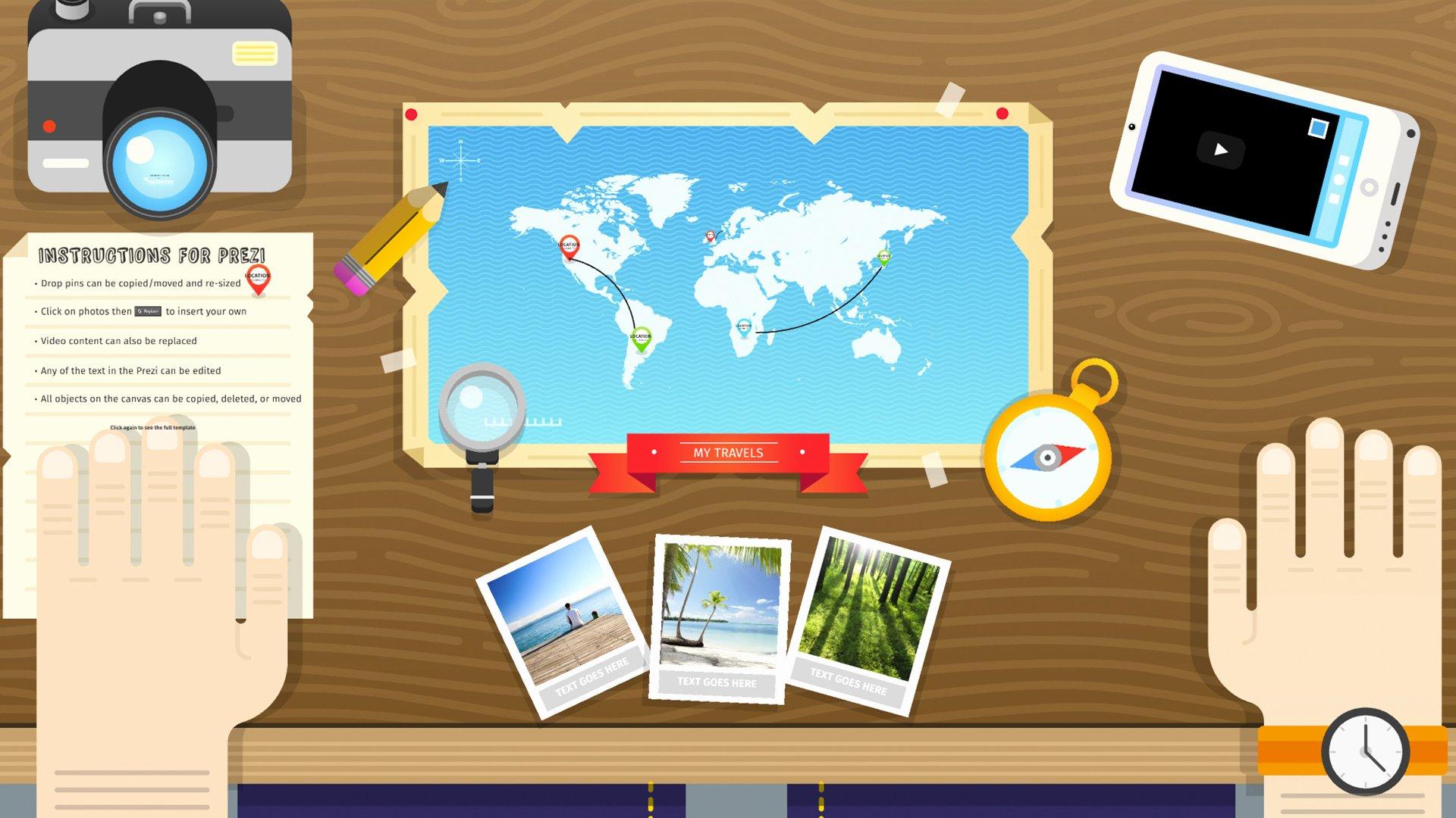 Free Prezi Design Travel Template the Prezenter