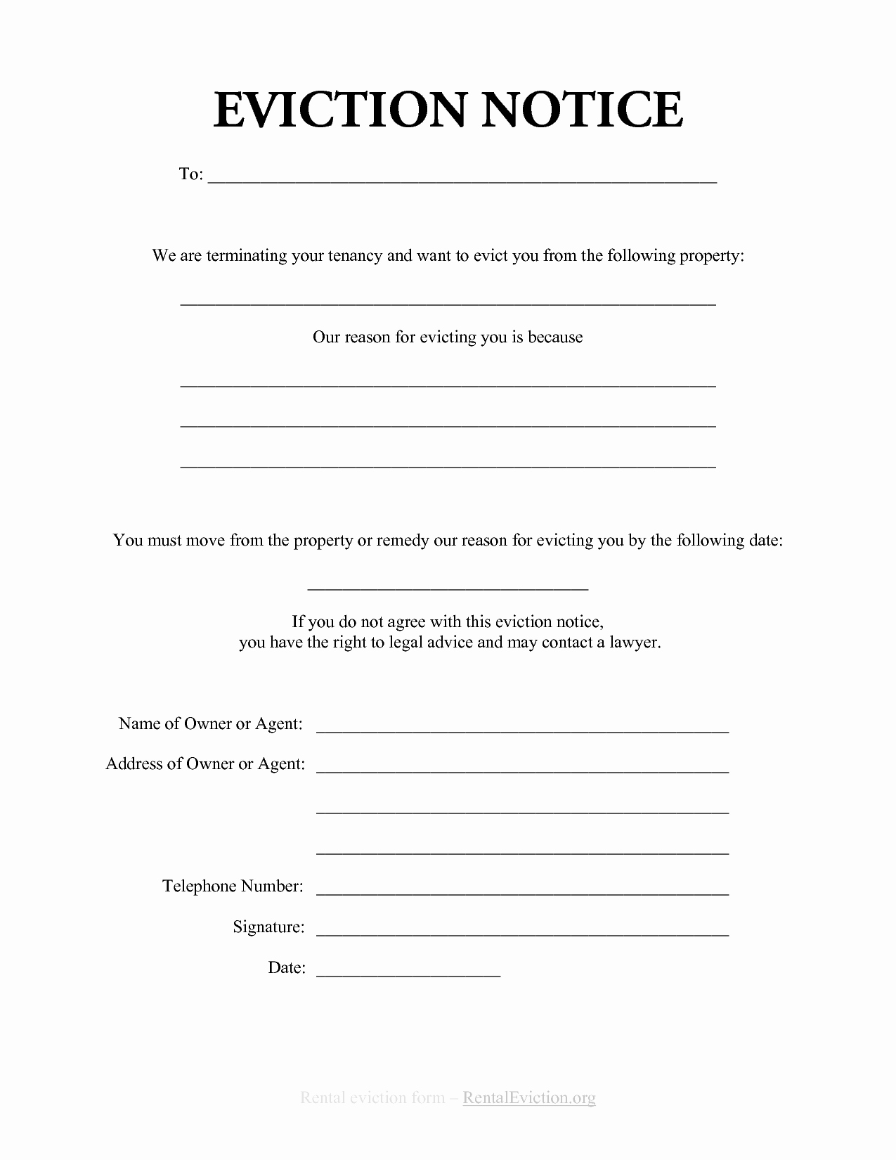 Free Print Out Eviction Notices
