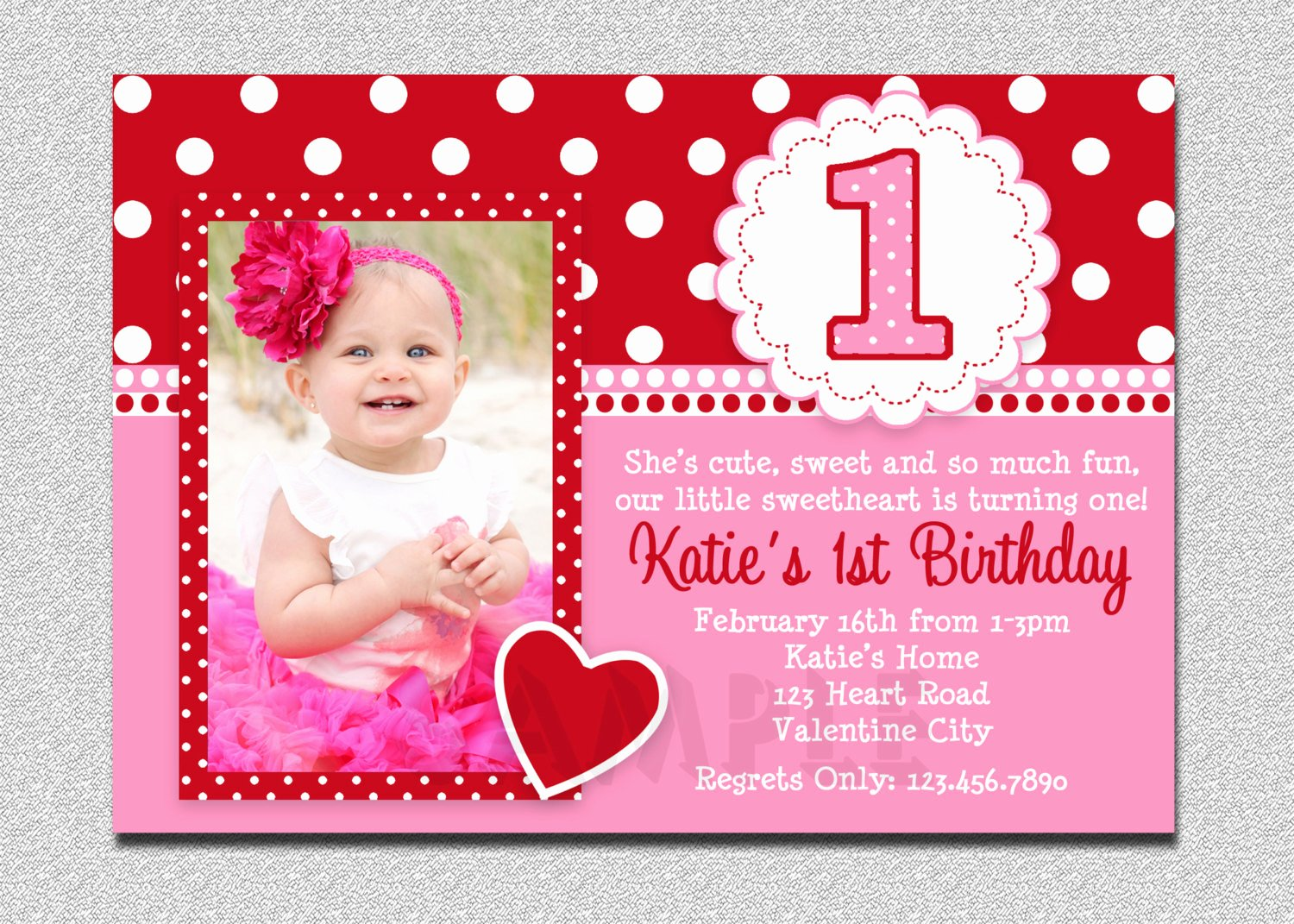 free printable 1st birthday invitations girl