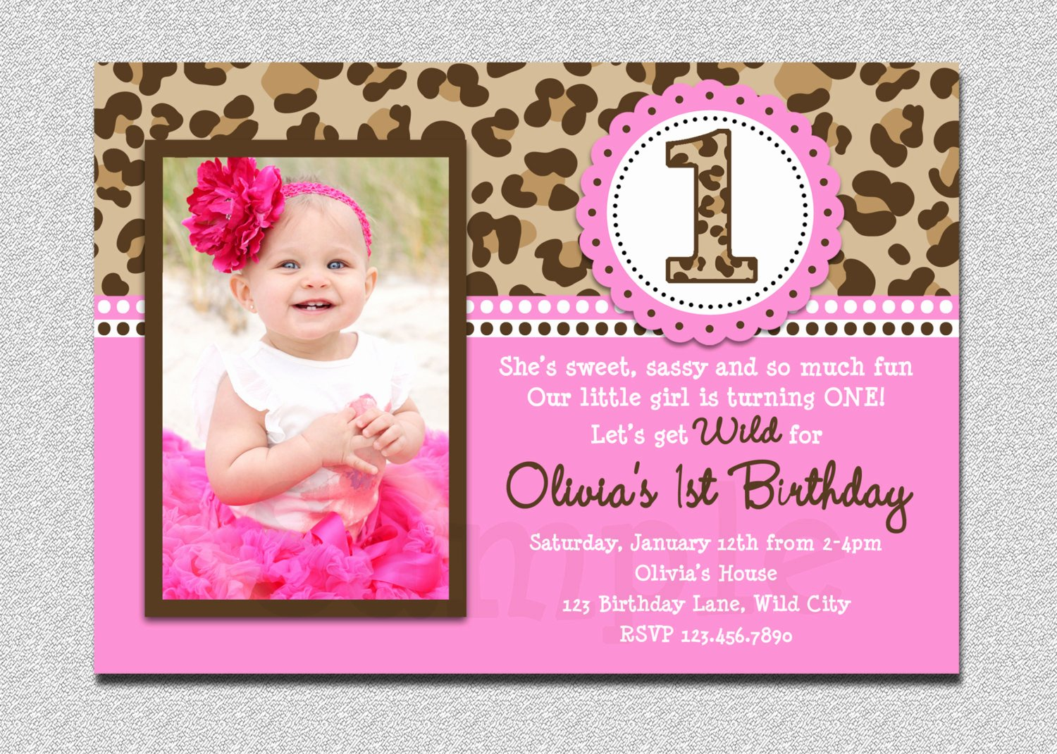 Free Printable 1st Birthday Invitations Girl – Free