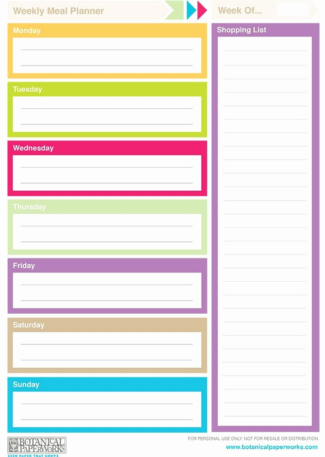 Free Printable 2014 Weekly Planners