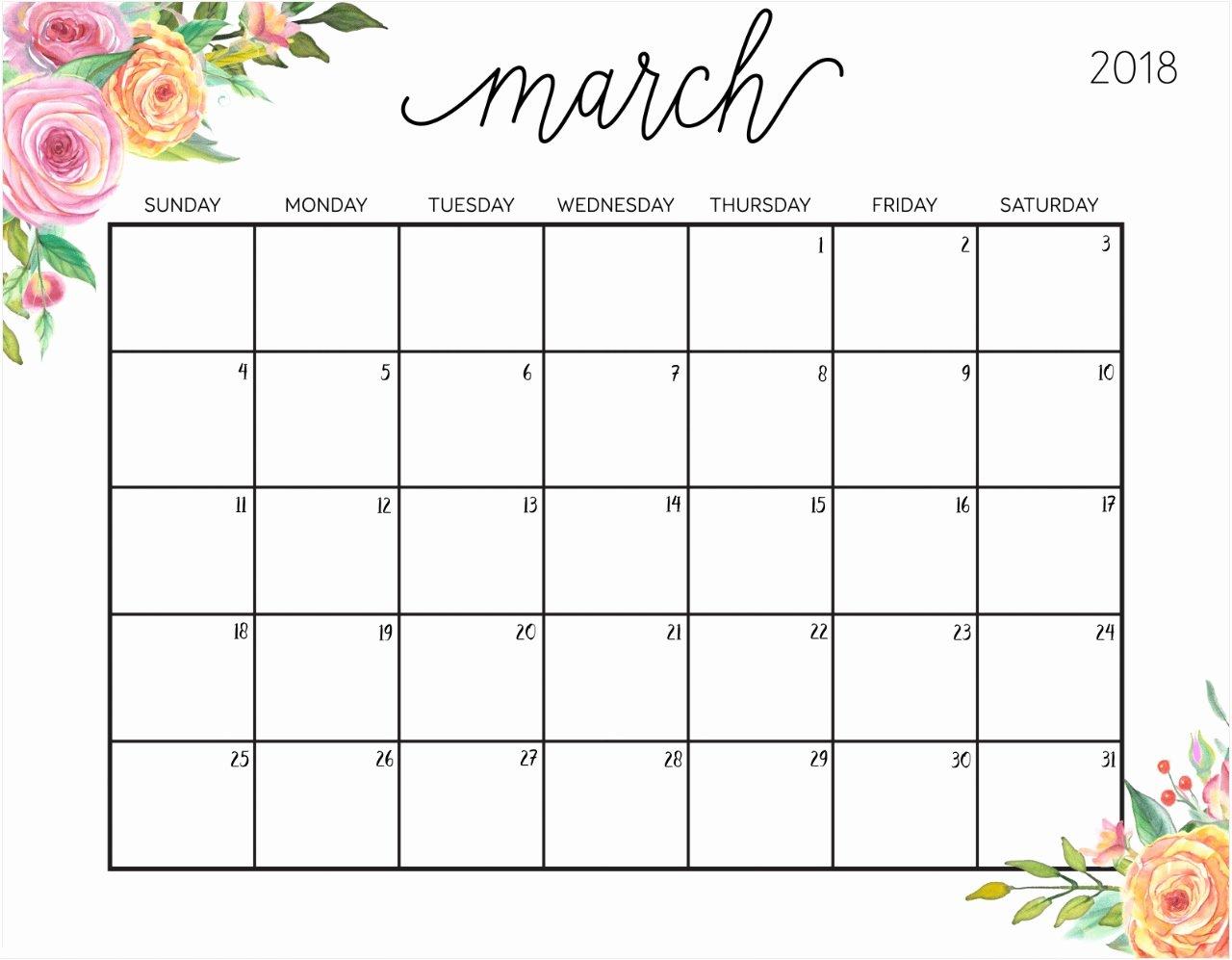Free Printable 2018 Calendar with Weekly Planner