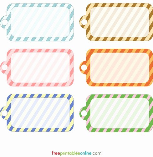 Free Printable 4 Etiquetas Diferentes 4 Different Tags