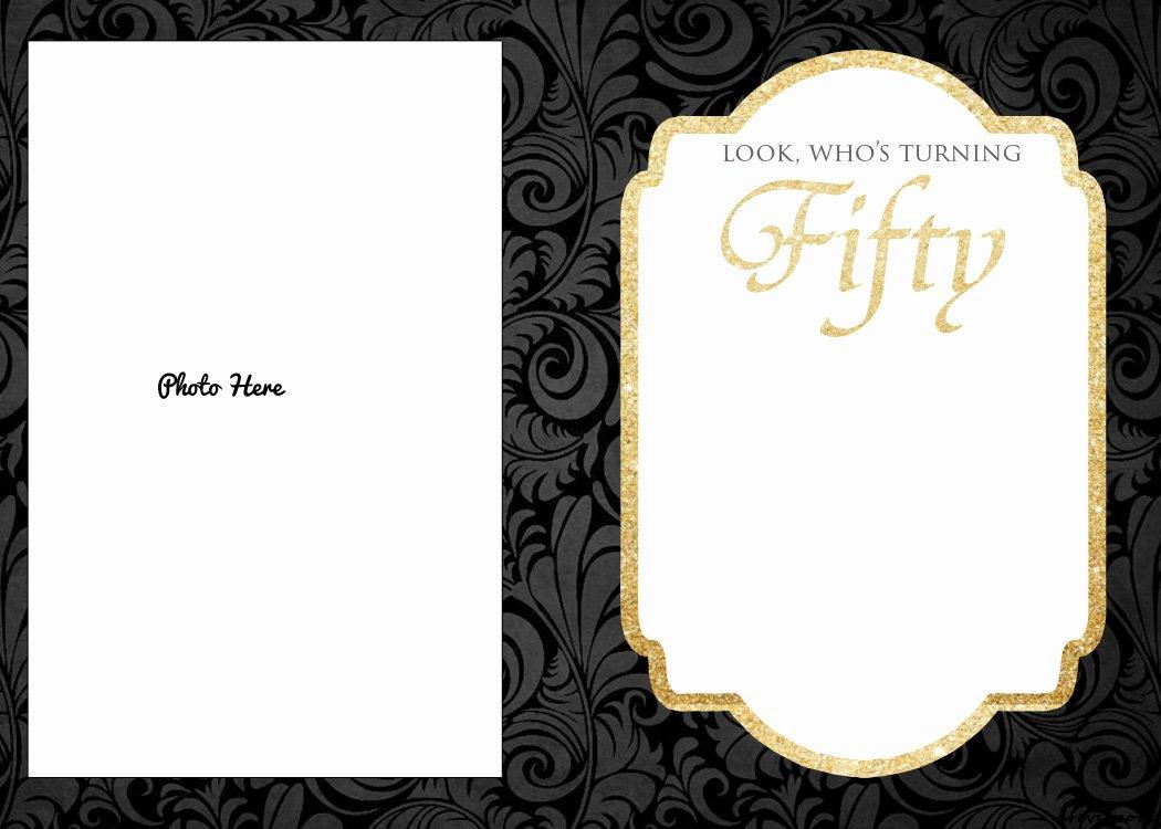 Free Printable 50th Birthday Invitations Template