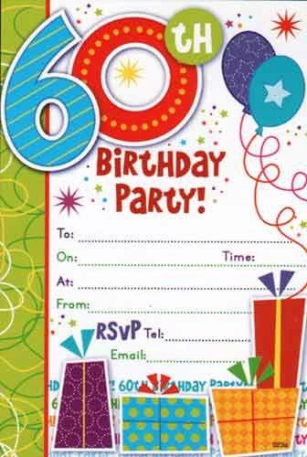 Free Printable 60th Birthday Invitations – Free Printable