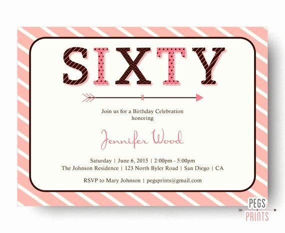 Free Printable 60th Birthday Party Invitation