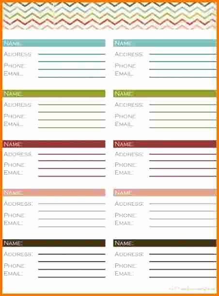 10 Address Book Samples – Latter Example Template