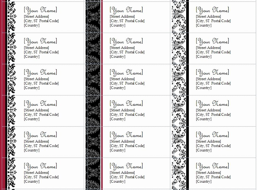 Free Printable Address Label Templates