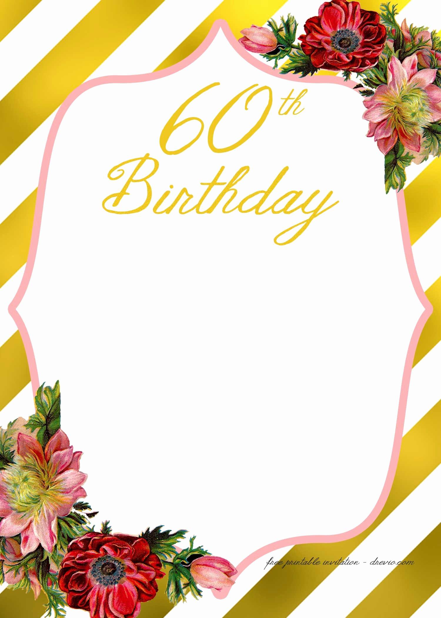 Free Printable Adult Birthday Invitation Template – Free