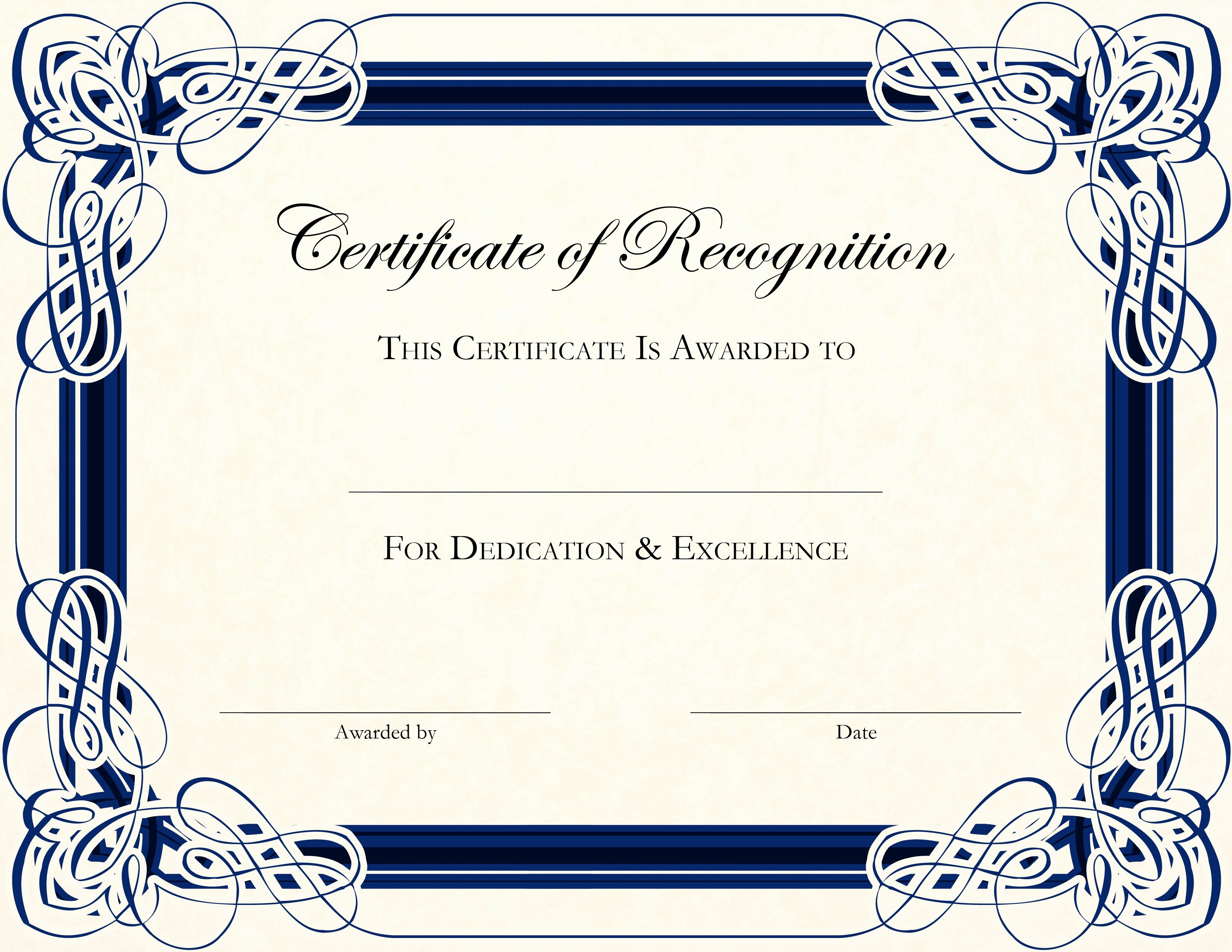 Free Printable Award Templates
