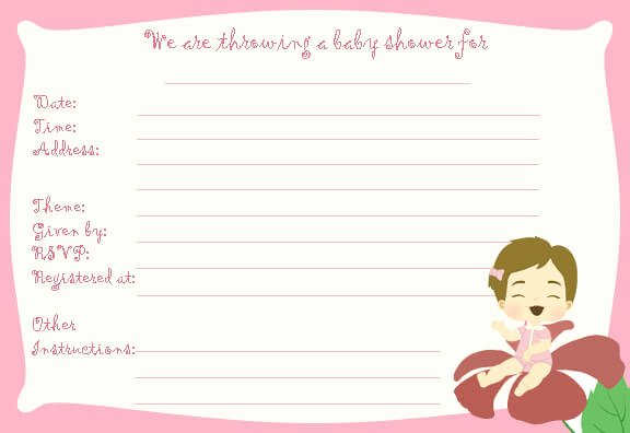 Free Printable Baby Shower Flyers Template