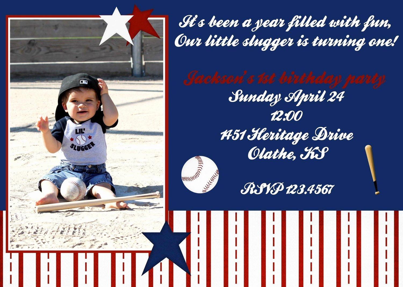 Free Printable Baseball Birthday Invitations Kids