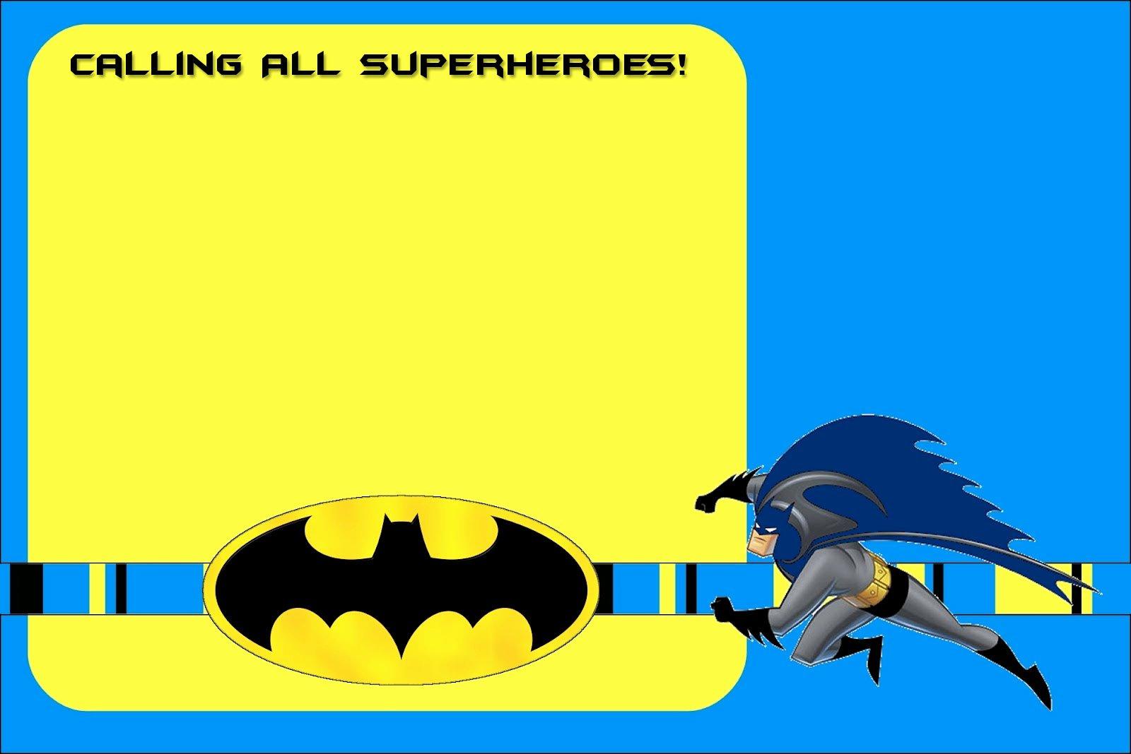 Free Printable Batman forever Invitation Template