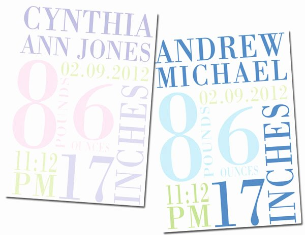 Free Printable Birth Announcements Templates