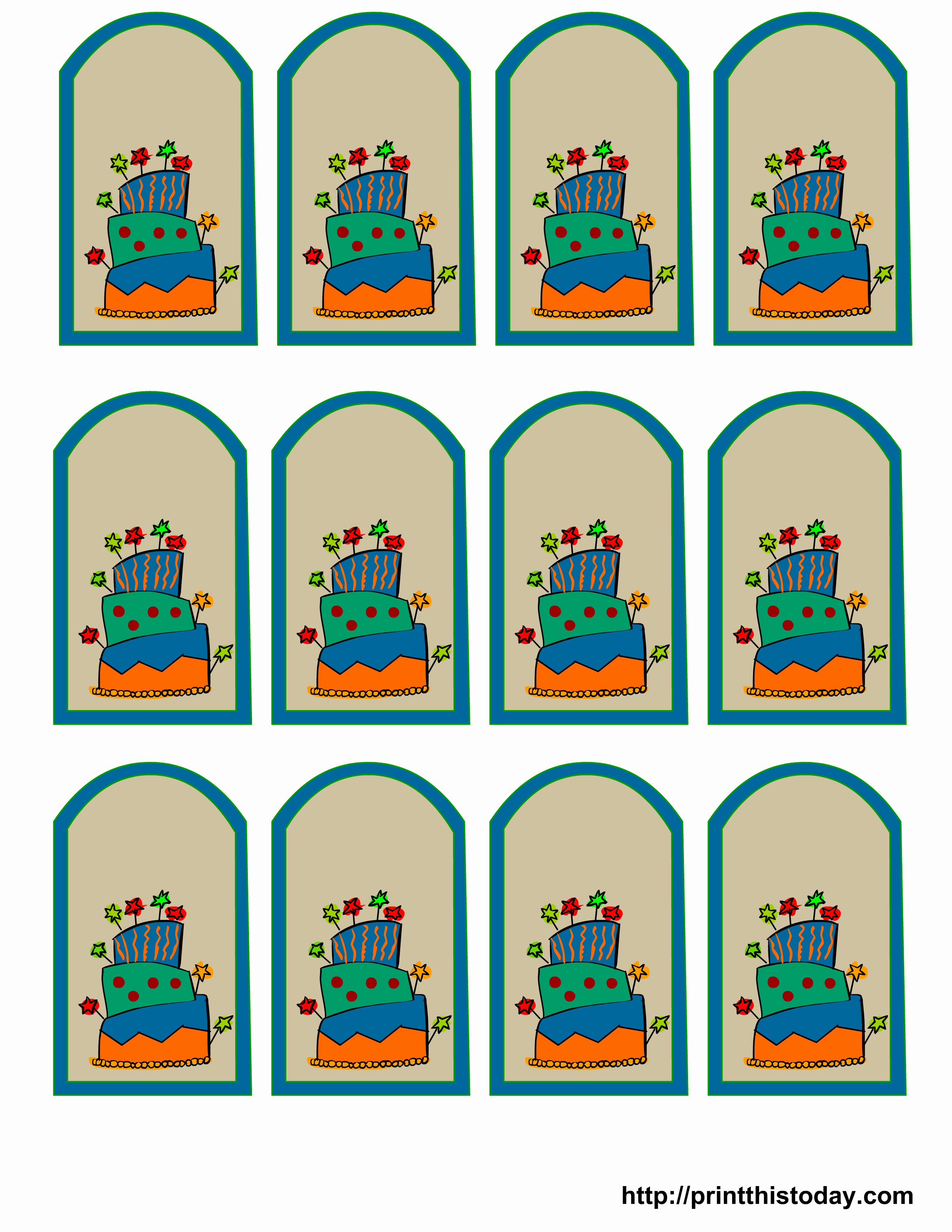 Free Printable Birthday Favor Tags