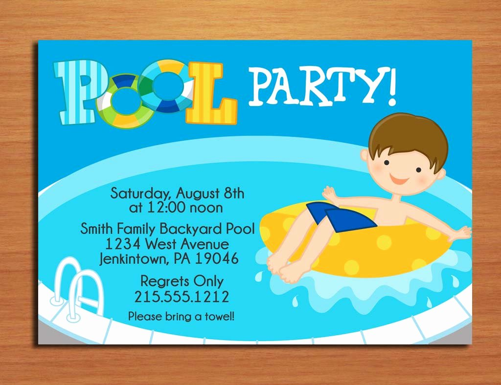 image about Free Printable Pool Party Birthday Invitations referred to as Free of charge Printable Pool Occasion Birthday Invitation Latter
