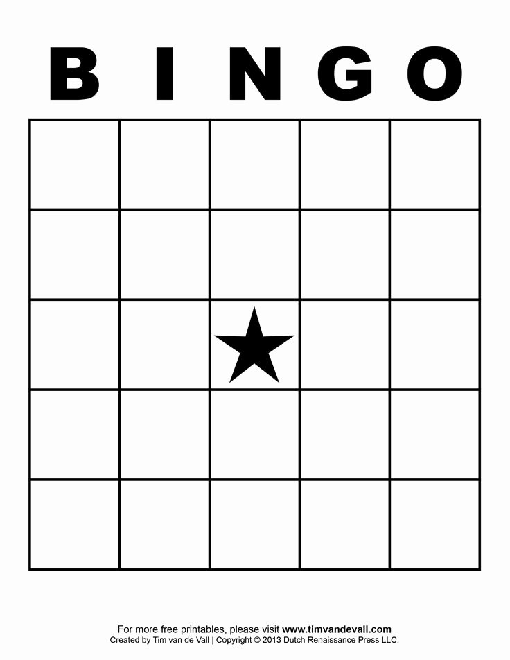Free Printable Blank Bingo Cards Template 4 X 4
