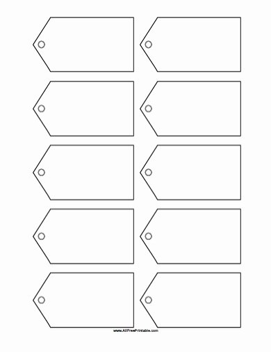 Free Printable Blank Gift Tags Template