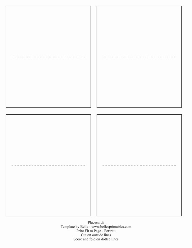 Free Printable Blank Place Card Template