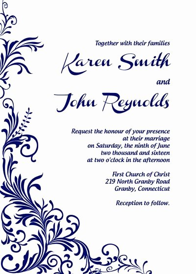 Free Printable Blank Wedding Invitation Templates