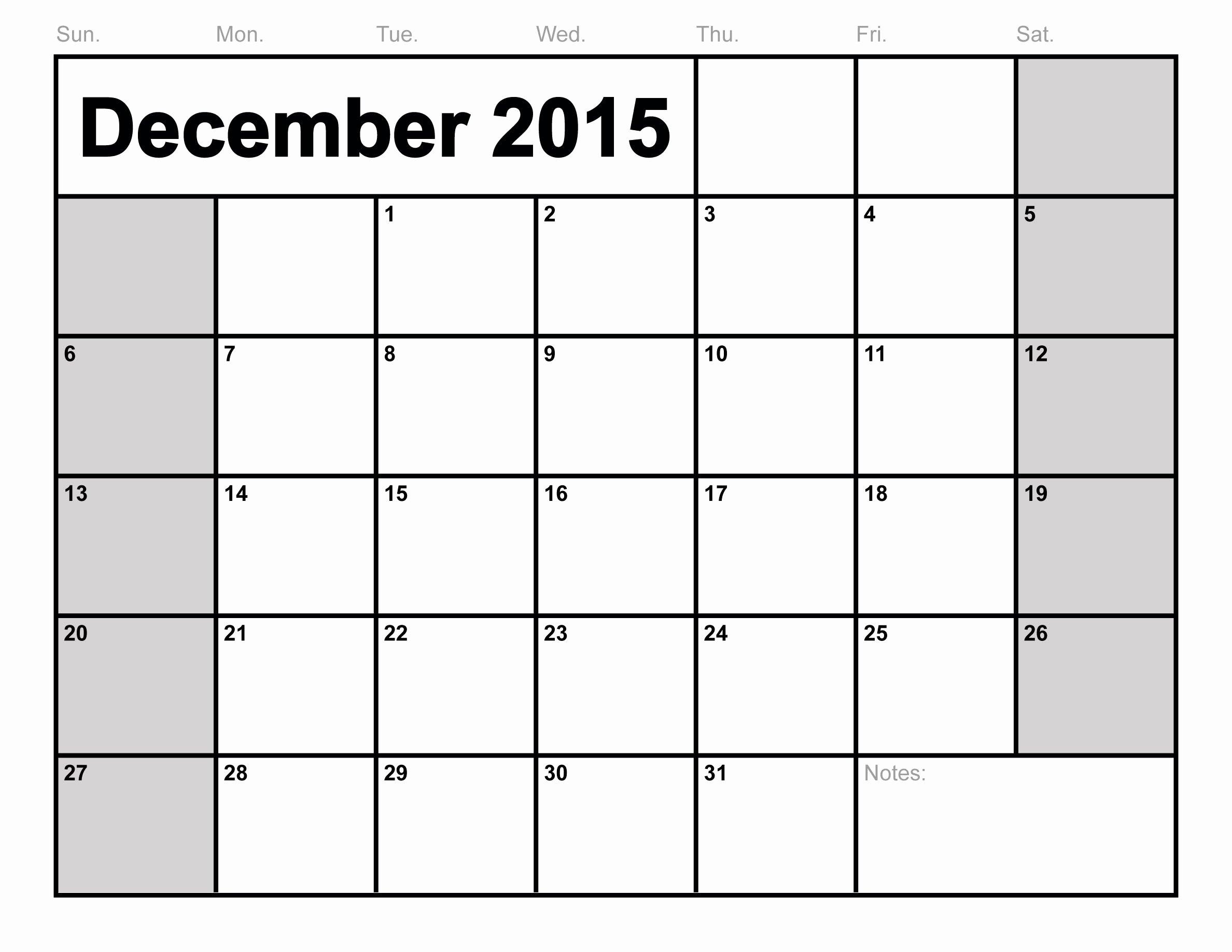 Free Printable Bud Calendar Template 2016