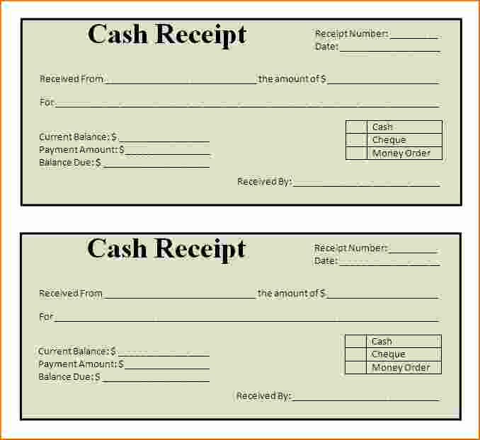 Free Printable Cash Receipt Template