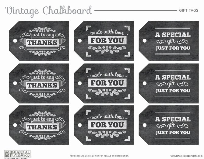 Free Printable Chalkboard Gift Tags Blog