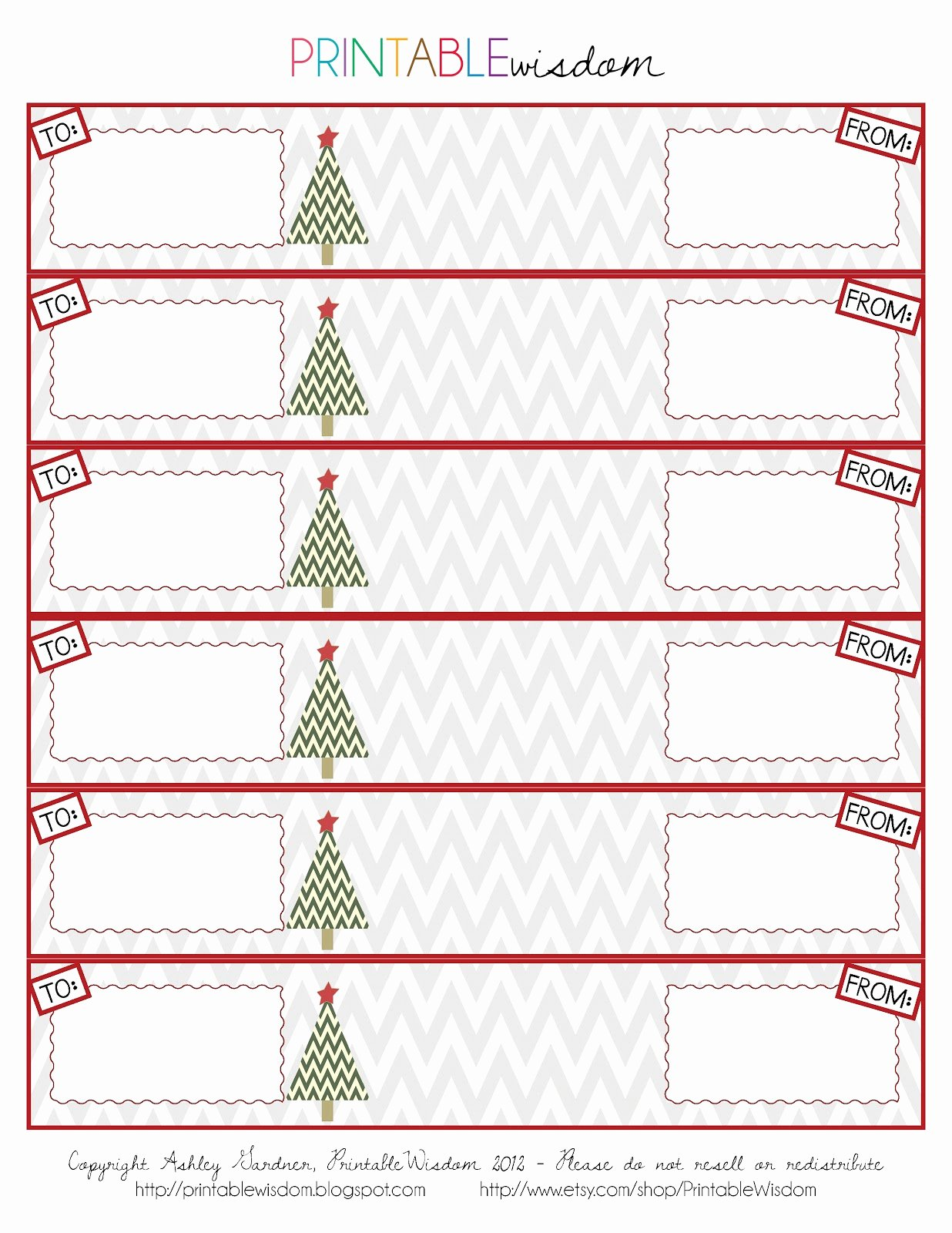 Free Printable Christmas Address Labels – Happy Holidays