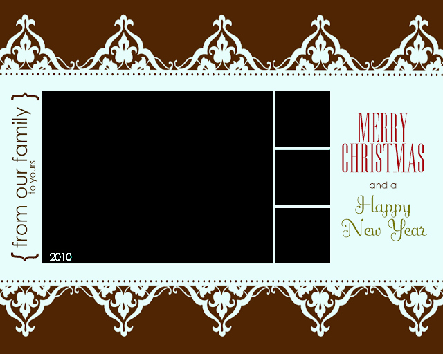 Free Printable Christmas Card Templates – Allcrafts Free