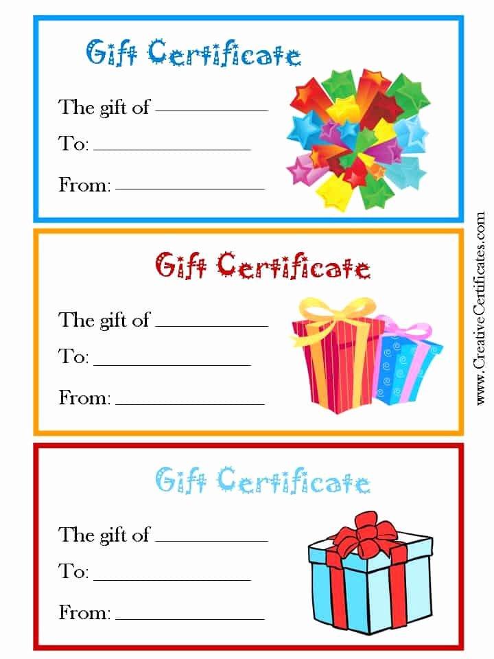 Free Printable Christmas Gift Certificate