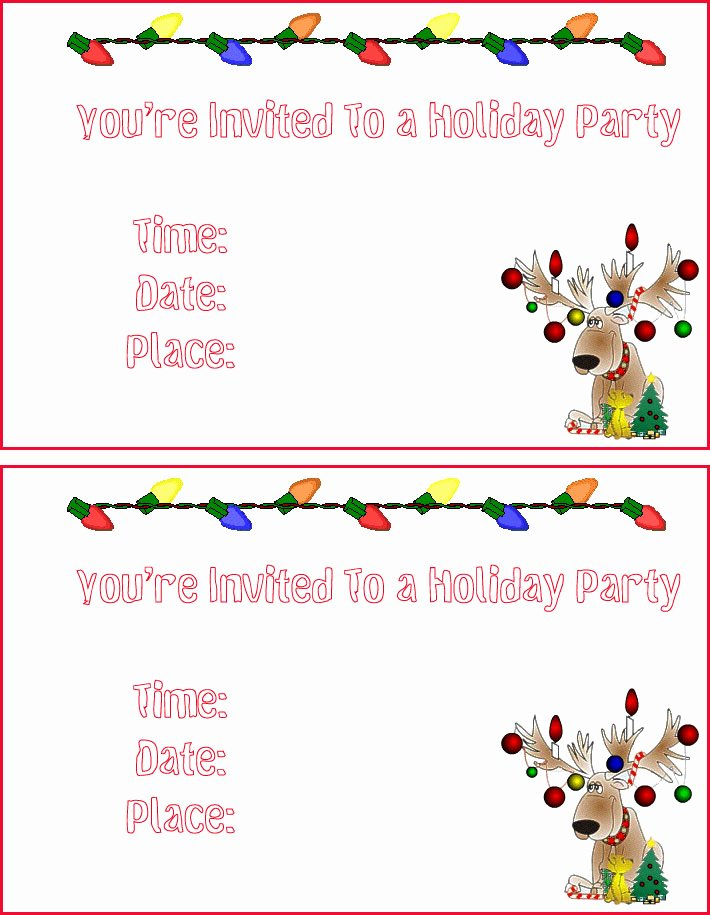 Free Printable Christmas Invitation Templates – Happy
