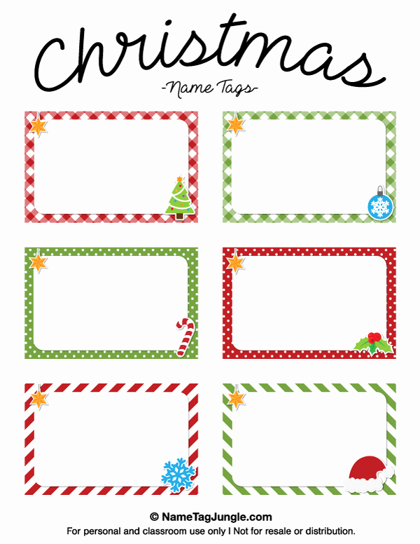 Free Printable Christmas Name Tags the Template Can Also