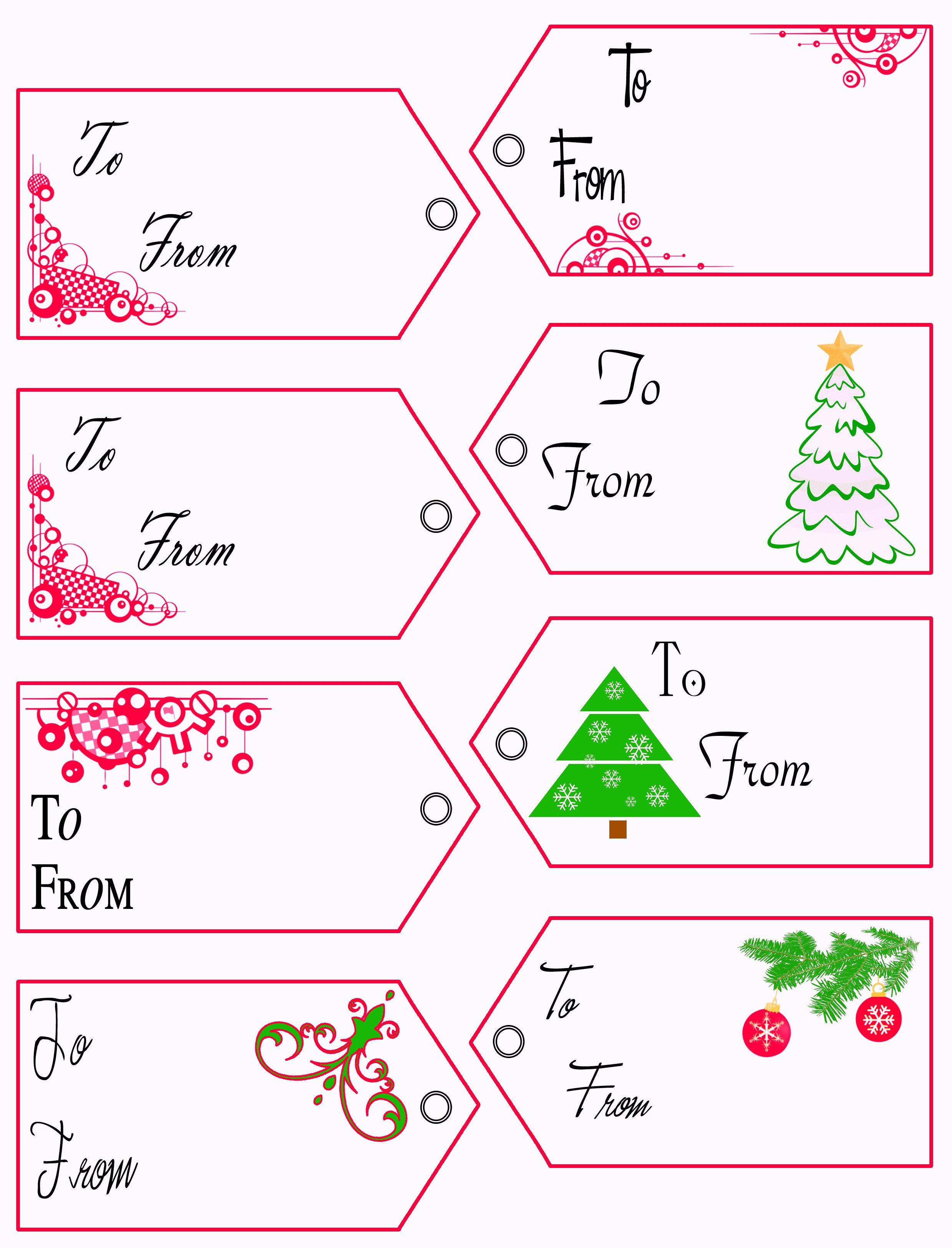 Free Printable Christmas Tags Templates