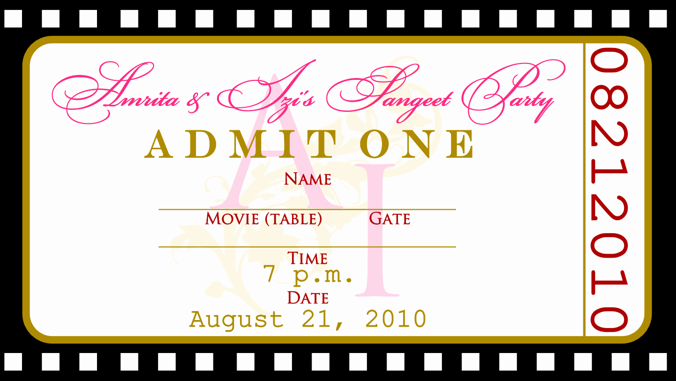 Free Printable Concert Ticket Invitation Template