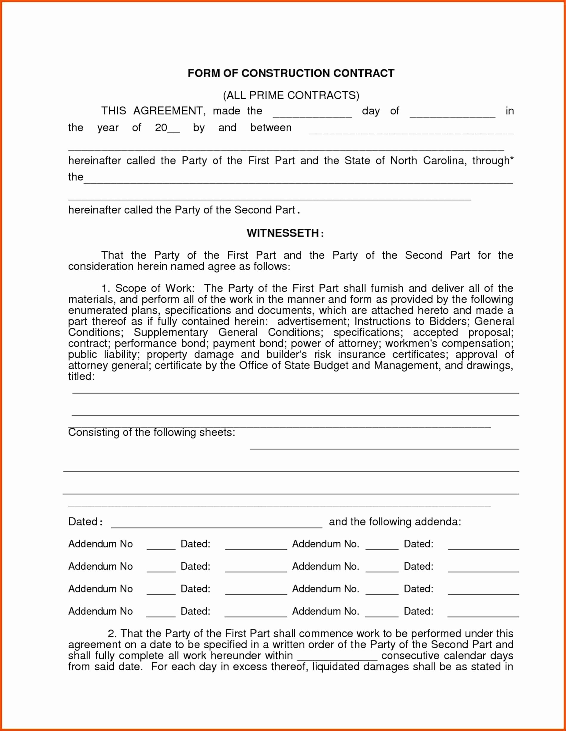 photograph regarding Free Printable Construction Change Order Forms titled Absolutely free Printable Composition Contracts Latter Illustration Template