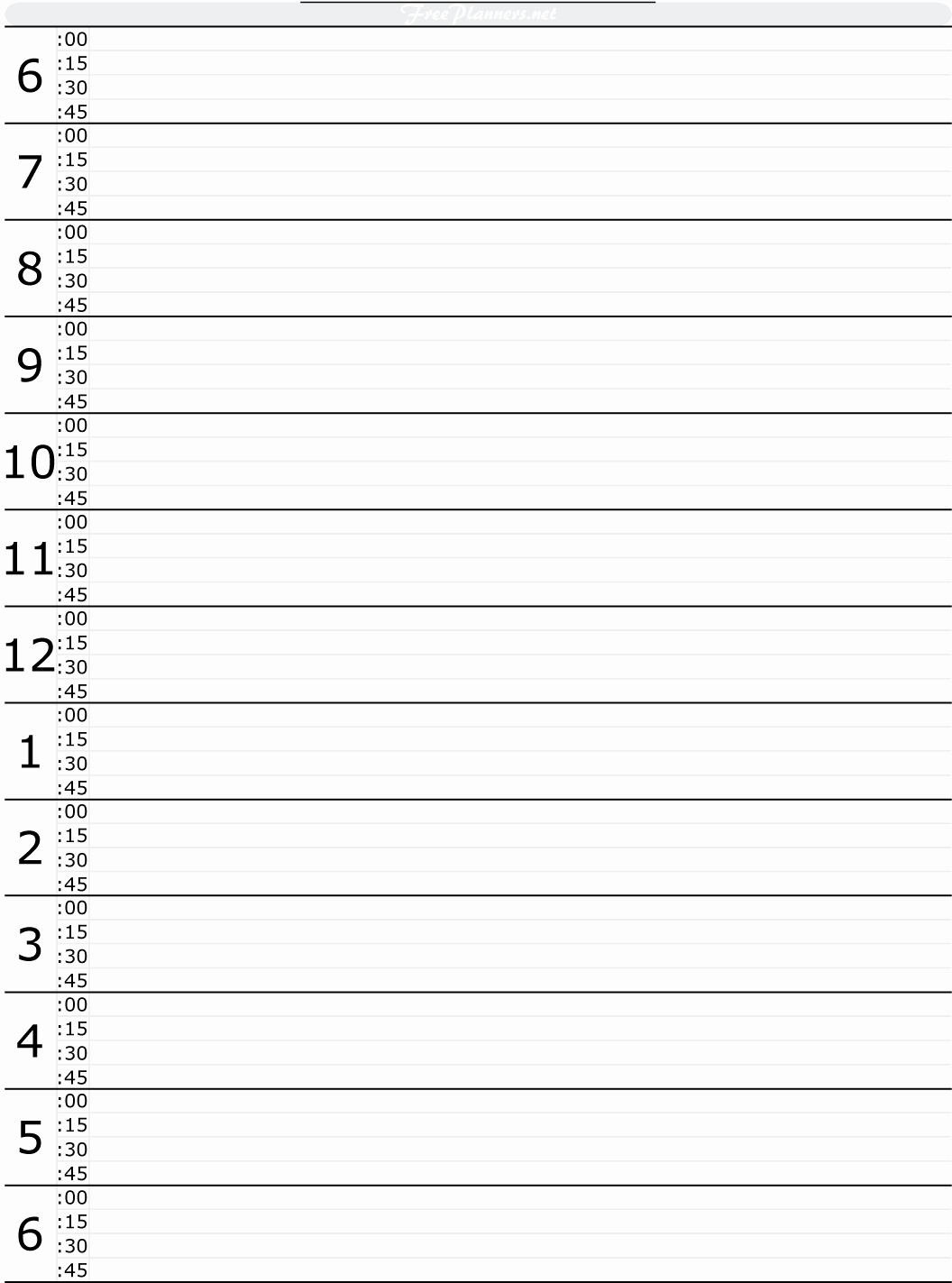 Free Printable Daily Excel Planner Daily Planner Template