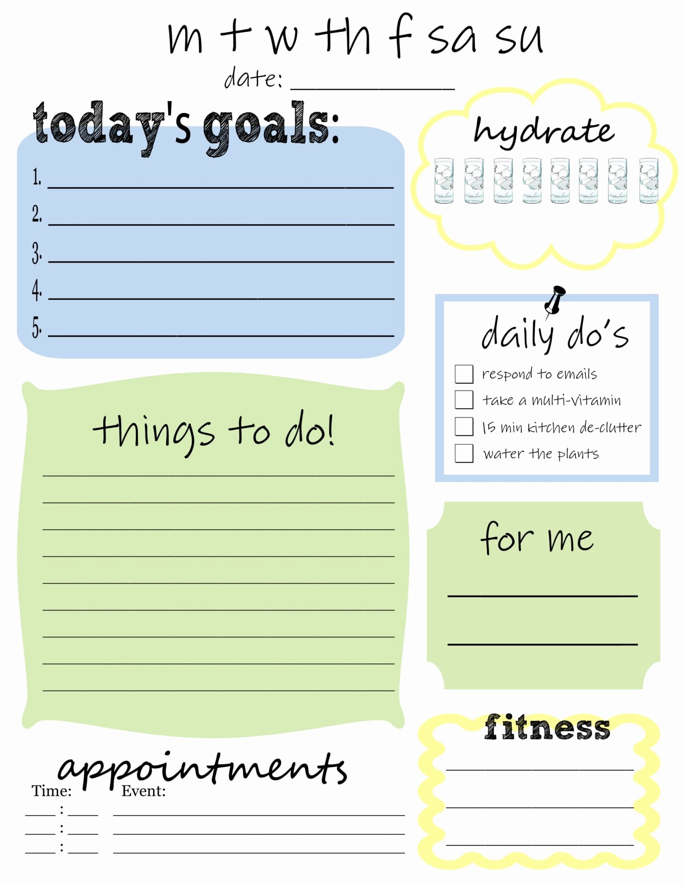 Free Printable Daily to Do List that S What Che Said